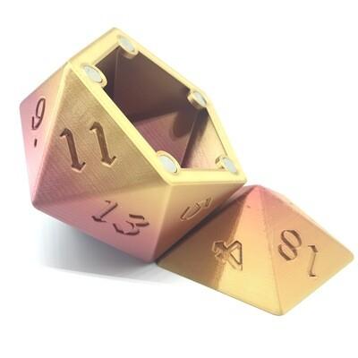 D20 Dice Box - Multi-color variation 3