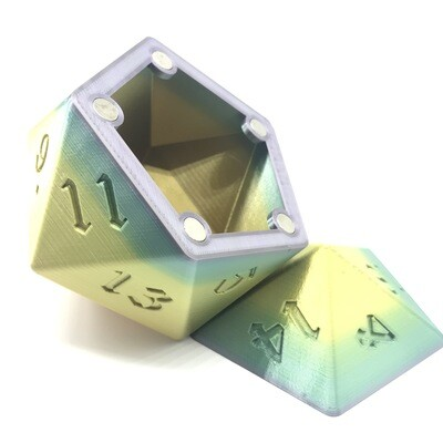 D20 Dice Box - Multi-color variation 1