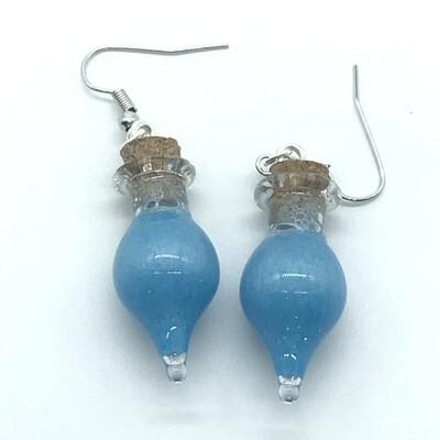 Potion Earrings - Cyan, drop bottle