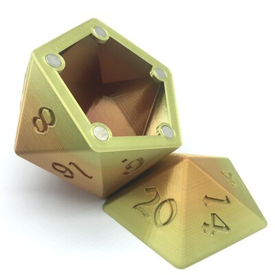 D20 Dice Box - Multi-color variation 4