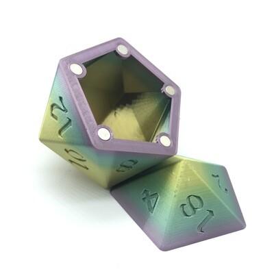 D20 Dice Box - Multi-color variation 5