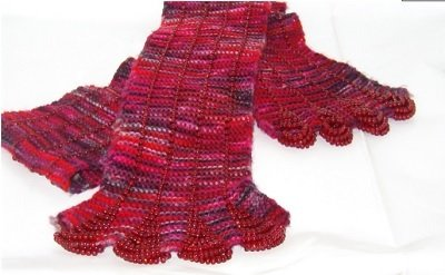Tiny Toes Beaded Scarf