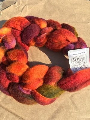 Hand Dyed Roving 8oz