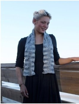Both Sides Now: Reversible Cabled Scarf