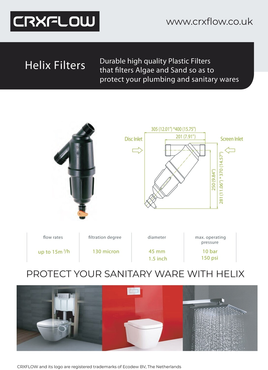 HELIX FILTER 1.5 INCH