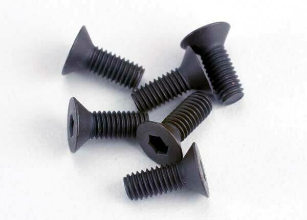 Screws, 3x8mm Countersunk Machine (6) (Hex Drive)