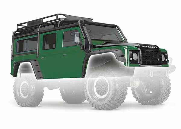 Traxxas Body, Land Rover Defender, Green