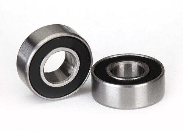 Ball Bearings, Black Rubber Sealed (5x11x4mm) (2)