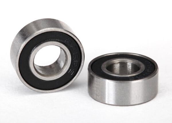 Ball Bearing, Black Rubber Seal (6x13x5mm) (2)