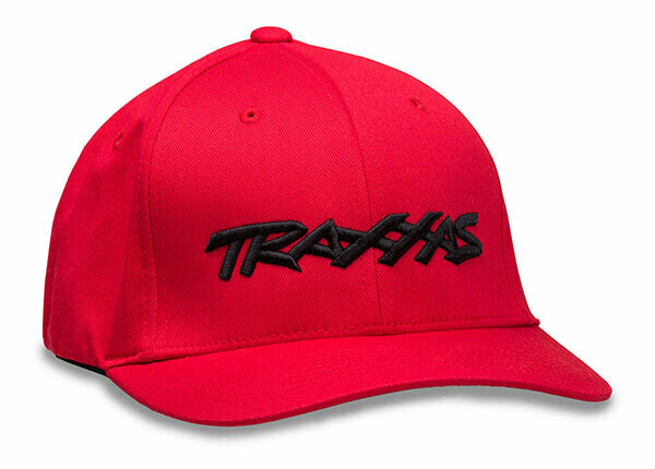 Traxxas Logo Hat Red Flexfit L/XL