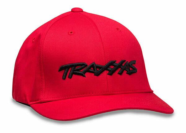 Traxxas Logo Hat Red Flexfit L/XL
