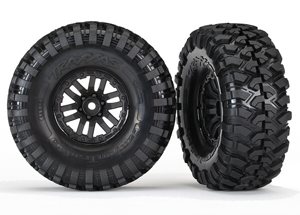Tires and wheels, assembled (TRX-4 wheels, Canyon Trail 1.9 Tires) (2)
