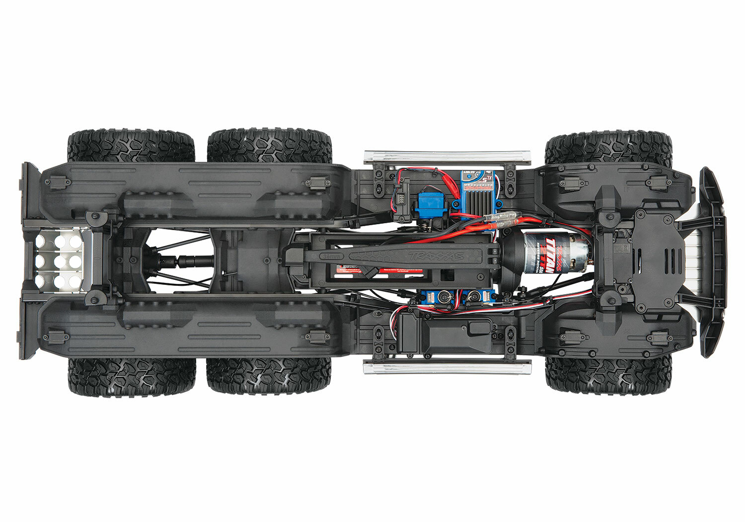 Traxxas TRX-6 Matte Graphite Metallic Mercedes-Benz G 63 AMG 6x6 (XL-5HV, TQi, LED Lights) (Wireless Module/3S 5000mAh LiPo Battery/Live iD Charger/Phone Mount) - Special Edition