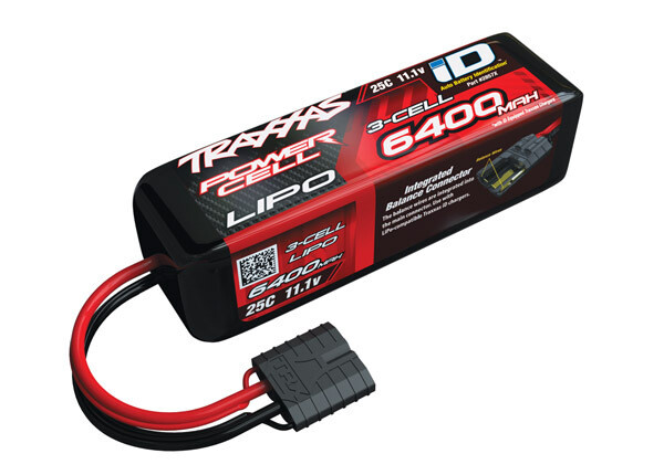 Traxxas 6400mAh 11.1V 3S 25C LiPo ID Battery (135x42x45mm)