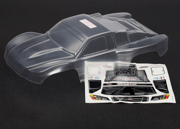 Body, Slash 4X4 (Clear, Requires Painting)/Window Masks/Decal sheet