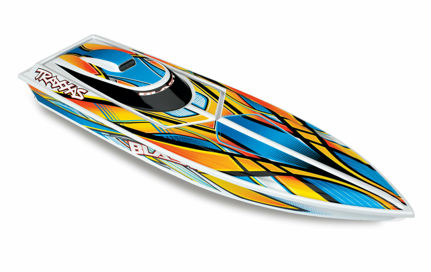 Traxxas Blast™ Race Boat (TQ/7.2V/DC Charger) + Includes Traxxas AC To DC Power Supply 40W, For UK Wall Charging