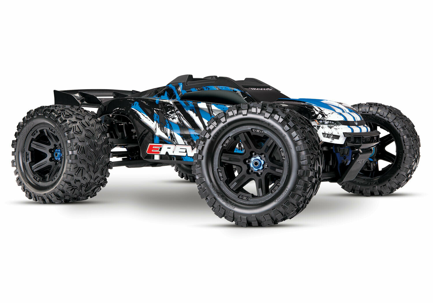 Traxxas E Revo 2.0 4WD Brushless Electric Racing Monster Truck (VXL-6S/TQi/Wireless Module/Motor Temp Sensor/2x3S 5000mAh/Dual iD Charger/Phone Mount)