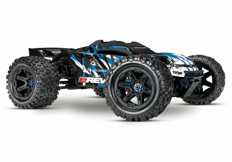 Traxxas E Revo 2.0 4WD Brushless Electric Racing Monster Truck (VXL-6S/TQi/Wireless Module/Motor Temp Sensor/2x3S 5000mAh/Dual iD Charger/Phone Mount)