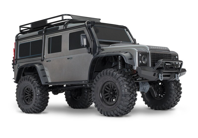 TRX-4 Crawler Land Rover Defender 110 (XL-5HV, TQi) (Wireless Module/3S 5000mAh LiPo Battery/Live iD Charger/Phone Mount)