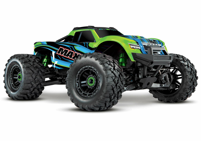 Traxxas Maxx 1/10 4WD VXL (TQi, TSM, 4S 5000mAh Battery, Live iD Charger) - GREEN
