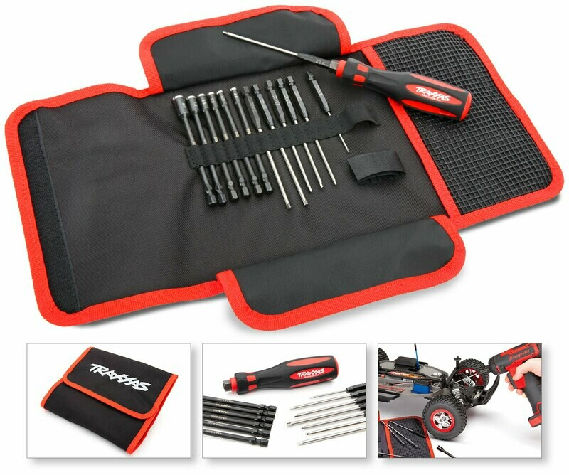 Traxxas Premium 13-Piece Tool Kit with Carrying Case (13-Piece Metric Speed Bit Master Set)