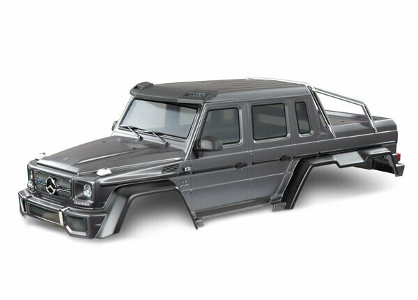 Body, Mercedes-Benz® G 63®, Complete (Matte Graphite Metallic) (Includes Grille, Side Mirrors, Door Handles, & Windshield Wipers)