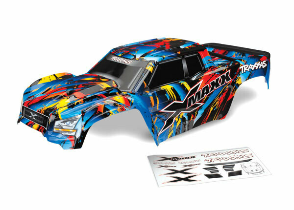 """Body, X-Maxx®, Rock n"""" Roll (Painted, Decals Applied) (Assembled with Front & Rear Body Mounts, Rear Body Support, and Tailgate Protector)"""
