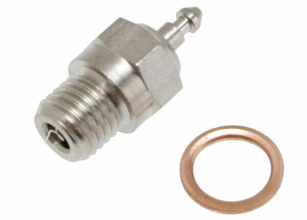 Traxxas Glow Plug, Super-Duty (Long-Medium)/Gasket