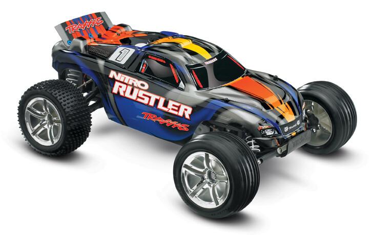 Traxxas Nitro Rustler 2.5 TSM 1/10 2WD (TQi/EZ Start)