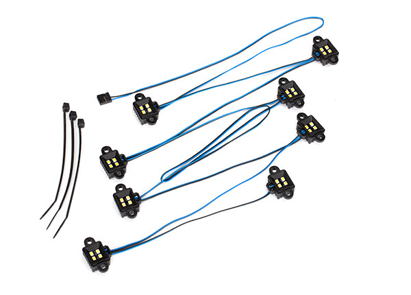 LED Rock Light Kit, TRX-4 / TRX-6 (Requires #8028 Power Supply and #8018, #8072, or #8080 Inner Fenders)
