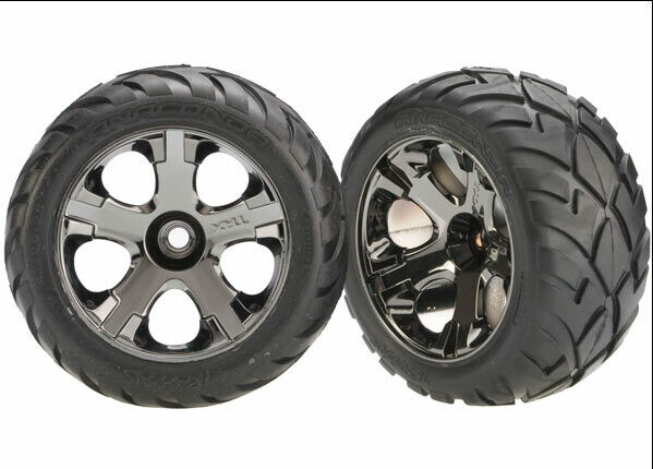 Tyres and Wheels, Assembled Glued Anaconda Tyres (Nitro Front) (1 Left, 1 Right)