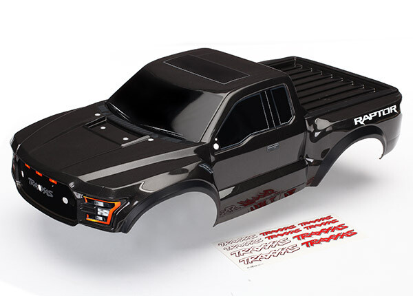 Traxxas Body, Ford Raptor®, Black (Heavy Duty)/ Decals (Note: Grill, Hood Insert & Mirrors Not Included)
