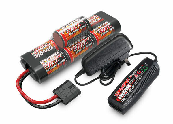 Traxxas 2 Amp AC NiMH Charger With Traxxas Battery, Power Cell ID, 3000mAh (NiMH, 8.4V Hump) UK