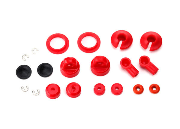 Rebuild Kit, Oil-Filled Shocks (O-Ring, Bladder, Piston, Shaft Guide, E-Clips, Shock Cap, Shock Rod End) Renews 2 Shocks