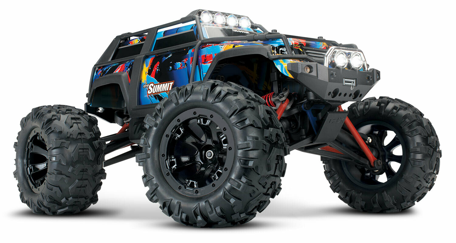 Traxxas 1/16 Summit 4x4 Extreme Terrain Monster Truck (+TQ, XL-2.5, Titan 550, 6-Cell NiMH, DC Charger)