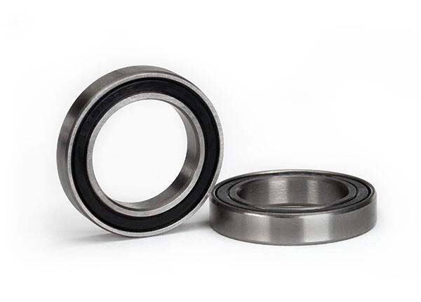 Ball Bearing, Black Rubber Sealed (17x26x5mm) (2)