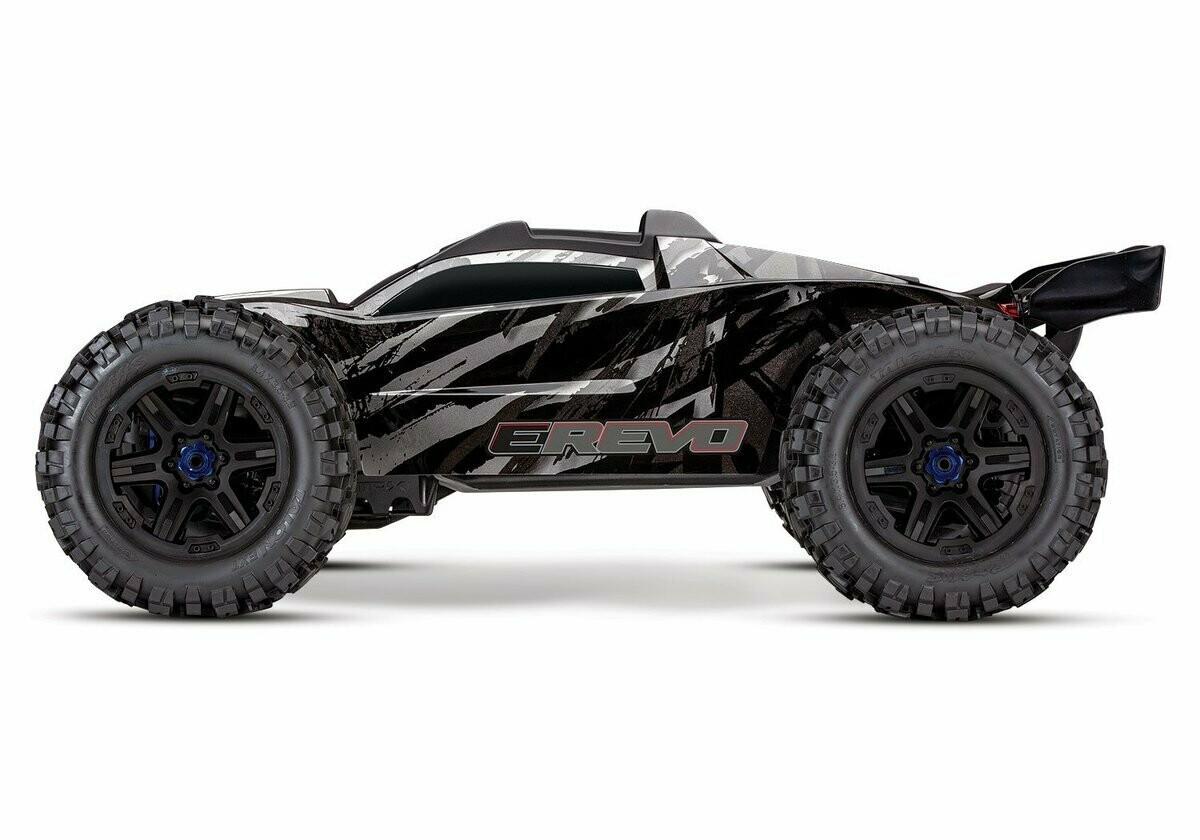 Traxxas E Revo 2.0 4WD Brushless Electric Racing Monster Truck (VXL-6S/TQi/No Batt/No Chg) - BLACK