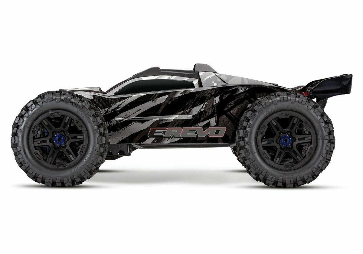 Traxxas E Revo 2.0 4WD Brushless Electric Racing Monster Truck (VXL-6S/TQi/Wireless Module/Motor Temp Sensor/2x3S 5000mAh/Dual iD Charger/Phone Mount) - BLACK