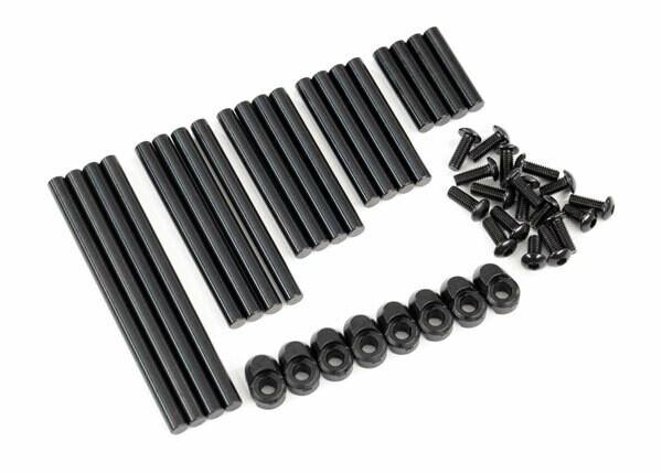 Suspension Pin Set, Complete (Hardened Steel), 4x64mm (4), 4x22mm (4), 4x38mm (4), 4x33mm (4), 4x47mm (4)/ 3x8mm BCS (14)/ 3x6mm BCS (4)/ Retainers (8)