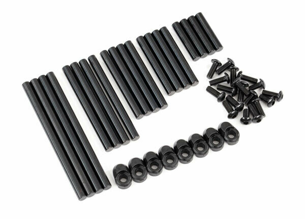 Suspension Pin Set, Complete (Hardened Steel), 4x64mm (4), 4x22mm (4), 4x38mm (4), 4x33mm (4), 4x47mm (4)/ 3x8mm BCS (14)/ 3x6mm BCS (4)/ Retainers (8)