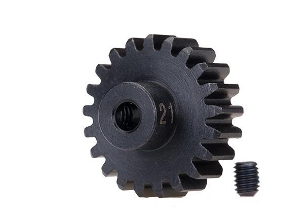 Gear, 21-T Pinion (32-p), Heavy Duty (Machined, Hardened Steel)/ Set Screw