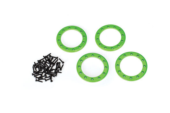 """Beadlock Rings, Green (1.9"""") (Aluminum) (4)/ 2x10 CS (48)"""
