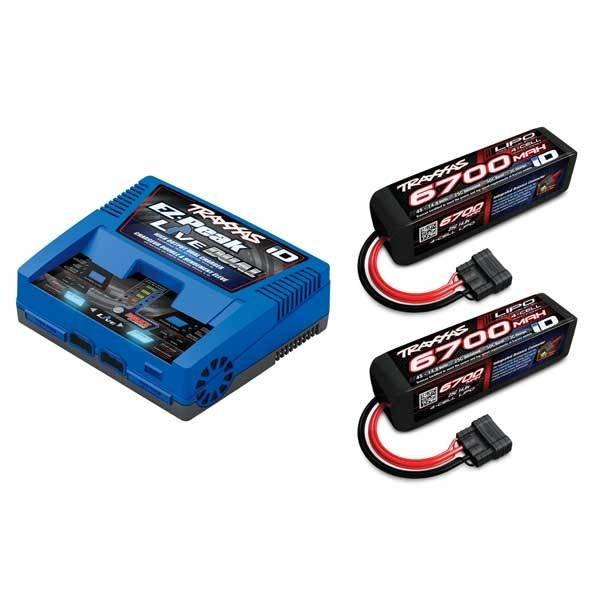 Traxxas EZ-Peak Live, 200W, NiMH/LiPo Bluetooth Dual ID Charger w/2x4S 6700mAh LiPo (2890X)