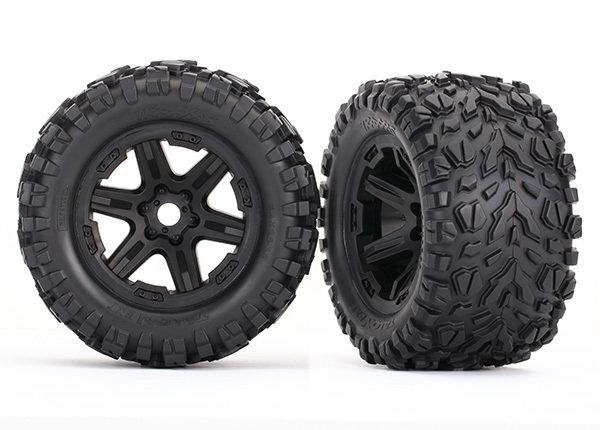 ERevo Tires & Wheels, Assembled (Black, Talon EXT Tires) (2) (17mm)
