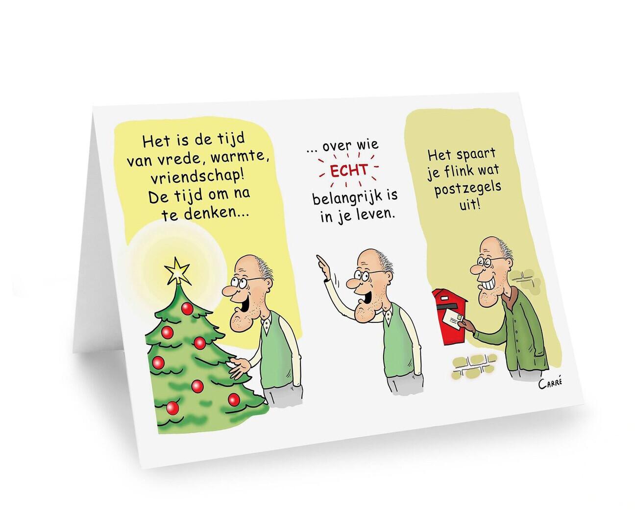 Kerst- en Nieuwjaarskaart Voor wie echt belangrijk is. (geplooide kaart ZONDER omslag)