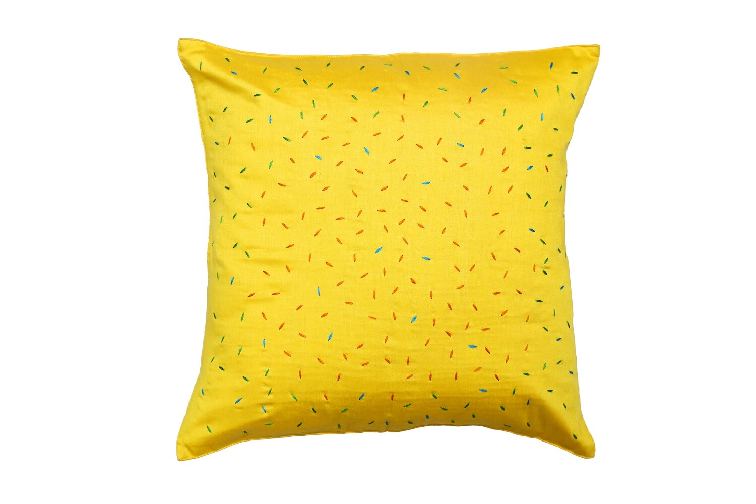 Chawal Embroidered Silk Cushion Cover