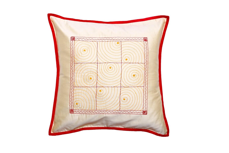 Gudri Embroidered Silk Cushion Cover