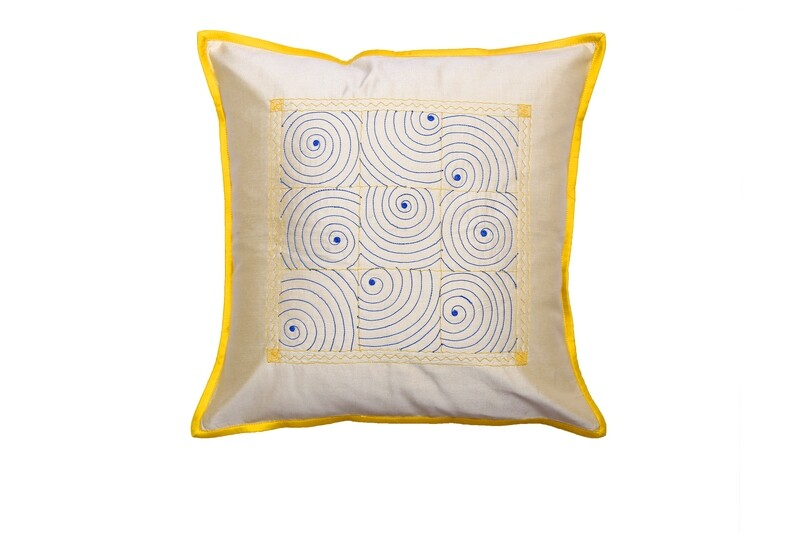 Gudri Embroidered Silk Cushion Cover