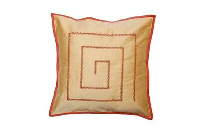 Kantha Embroidered Silk Cushion Cover