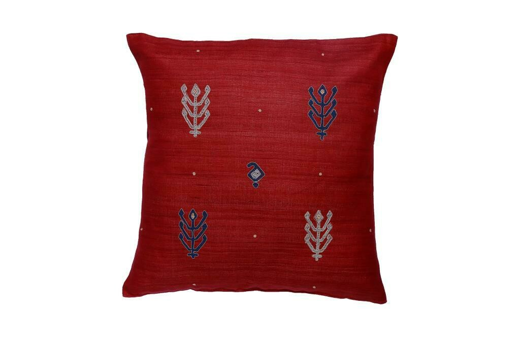 Kilim Embroidered Silk Cushion Cover
